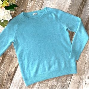 100% Cashmere Sweater Blue From Nordstrom Small
